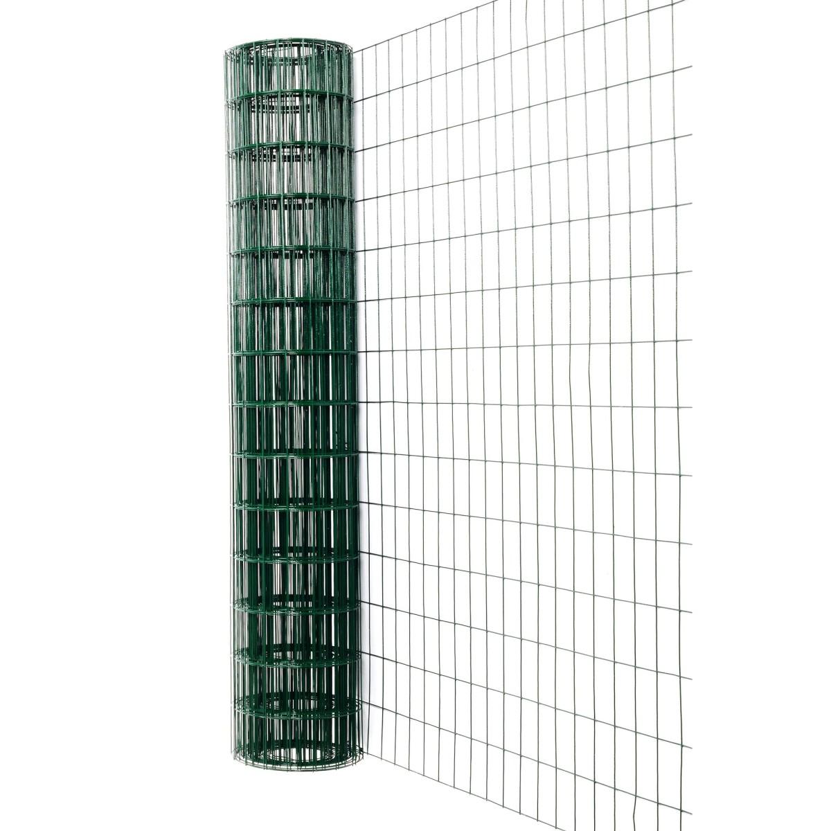 Сетка сварная материал ПВХ размер ячейки 75х100 мм размер сетки 15х1.8 м