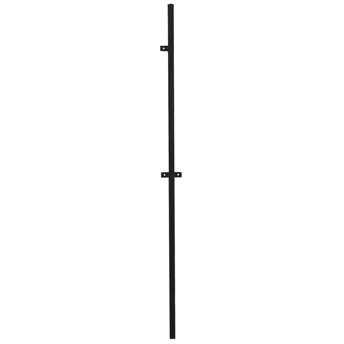 Столб для забора с планкой (ушами) высота 2.4 м 40х40 цвет черный