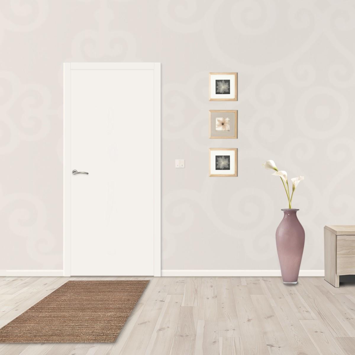 Дверь Межкомнатная Глухая 55x200 Ламинация Цвет Белый