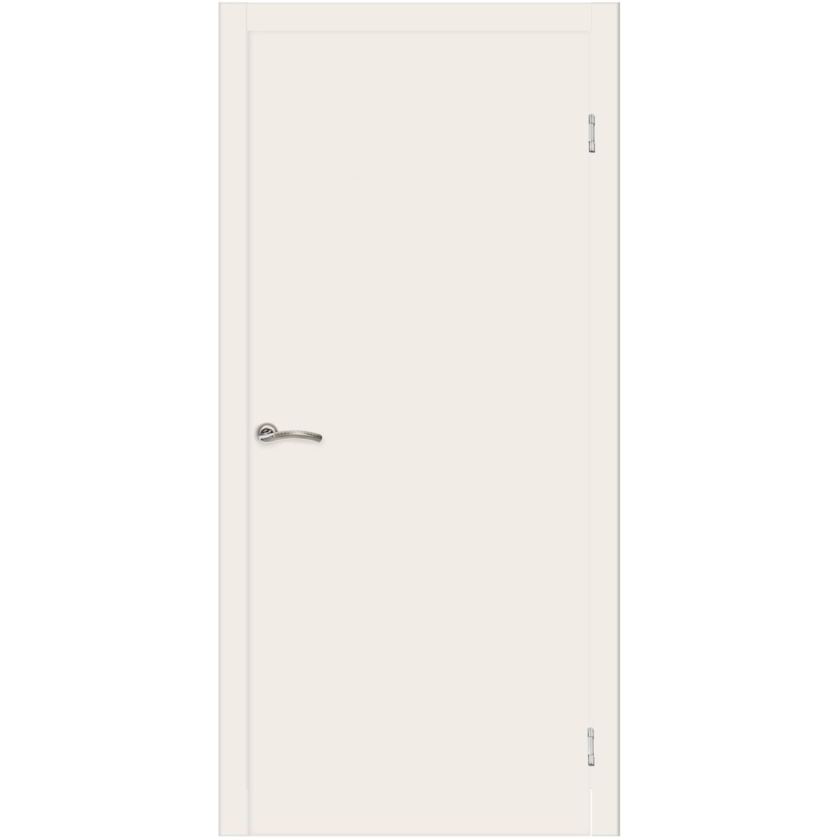 Дверь межкомнатная глухая 80x200 см ламинация цвет белый