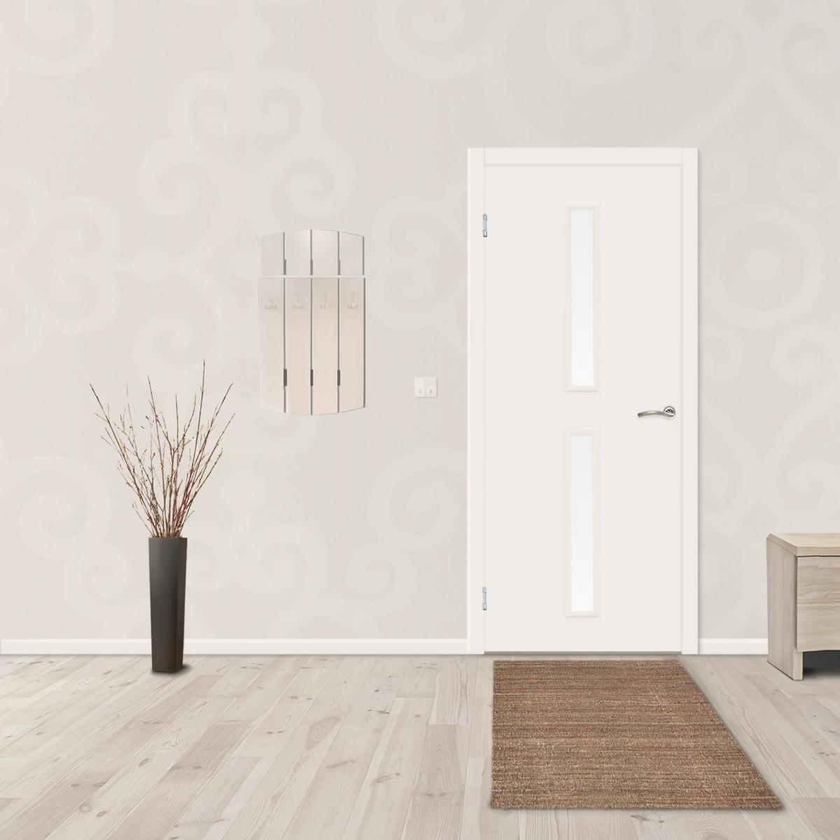 Дверь Межкомнатная Остеклённая 55x200 Ламинация Цвет Белый