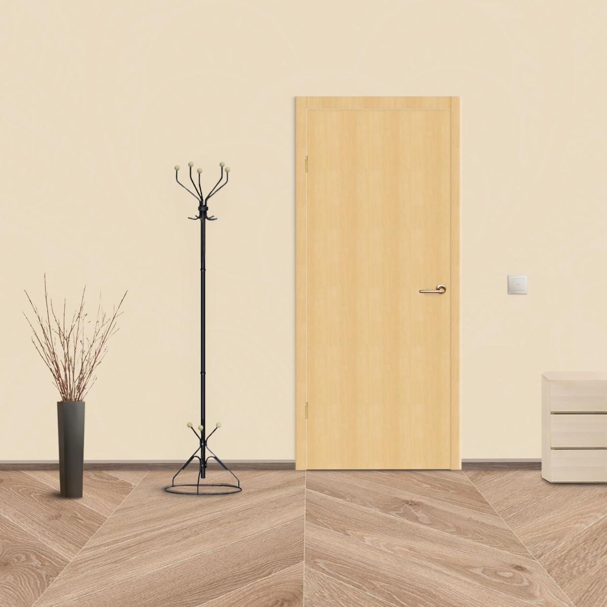 Дверь Межкомнатная Глухая Belleza 40x200 Ламинация Цвет Дуб Белый