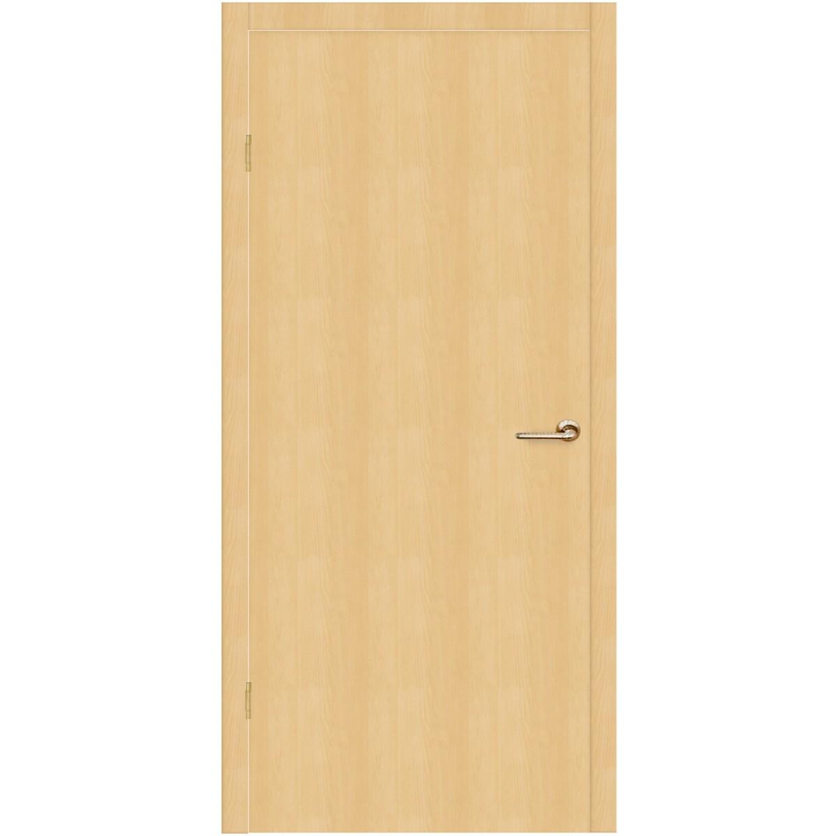 Дверь Межкомнатная Глухая Belleza 55x200 Ламинация Цвет Дуб Белый