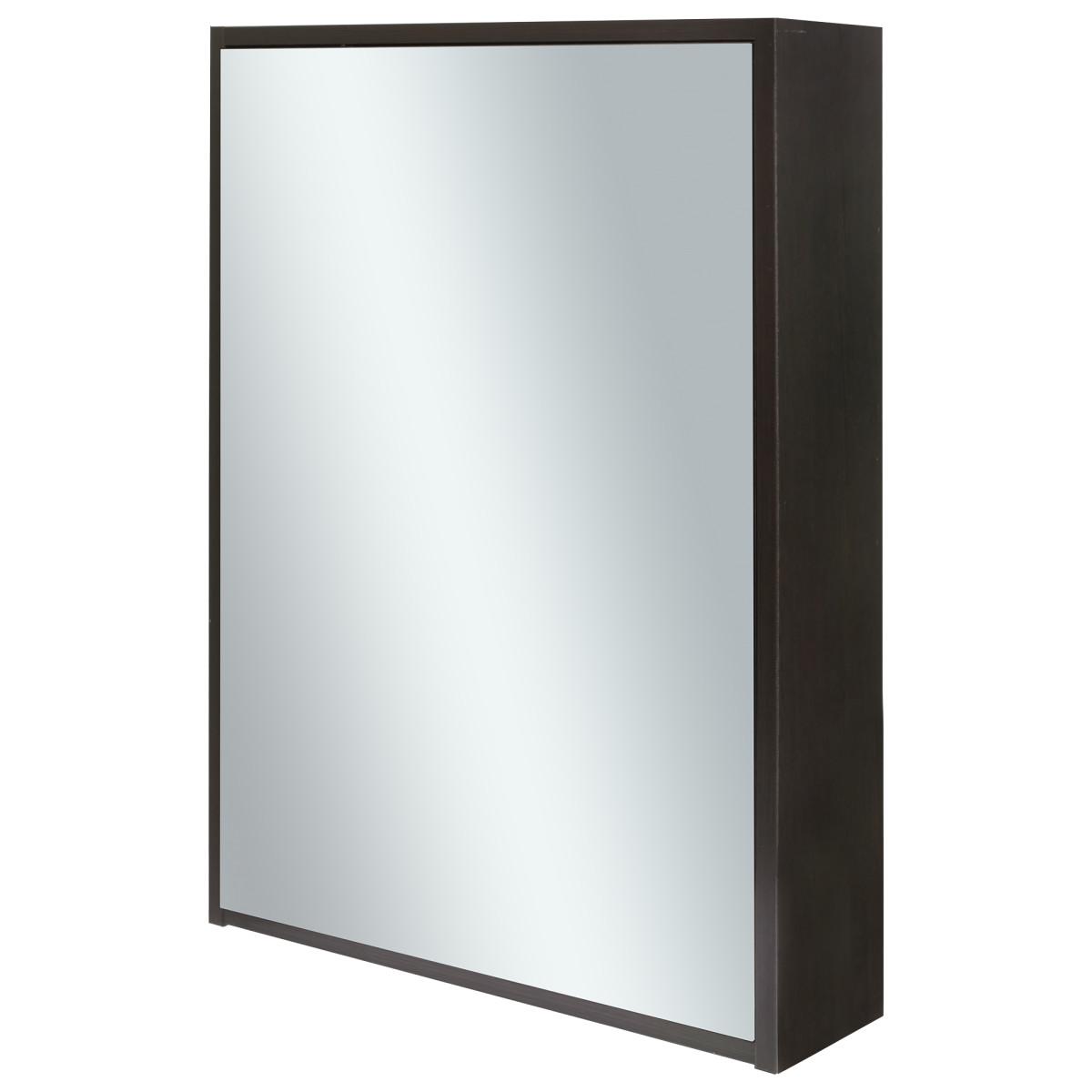 Шкаф зеркальный Дорис 60 см цвет венге