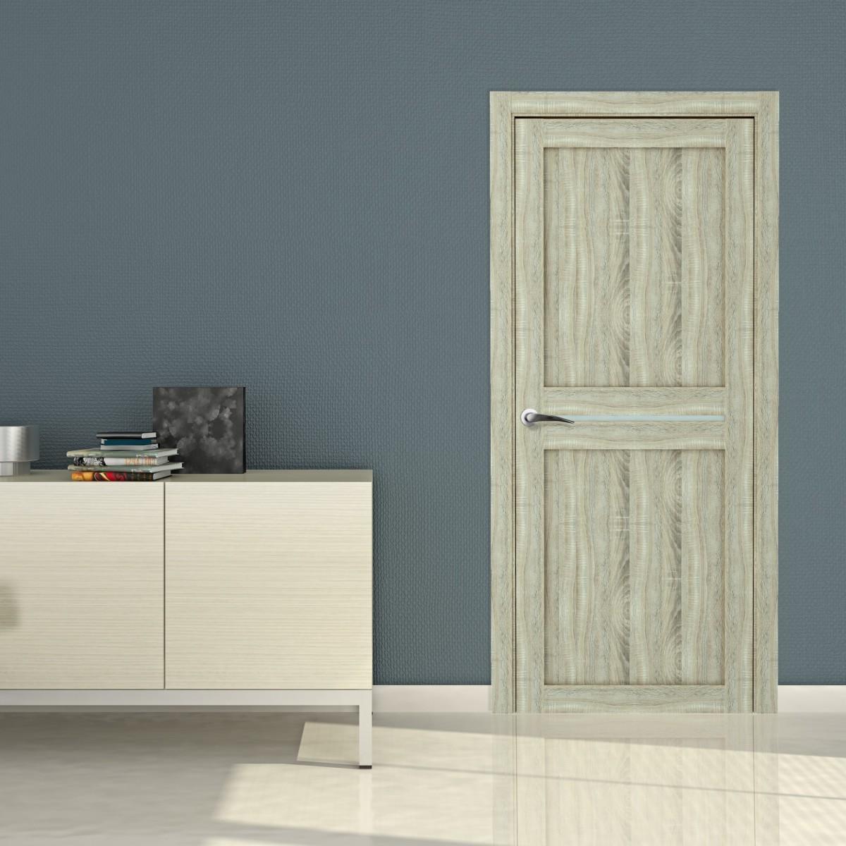 Дверь Межкомнатная Глухая Вита 90x200 Ламинация Дуб Натуральный С Фурнитурой