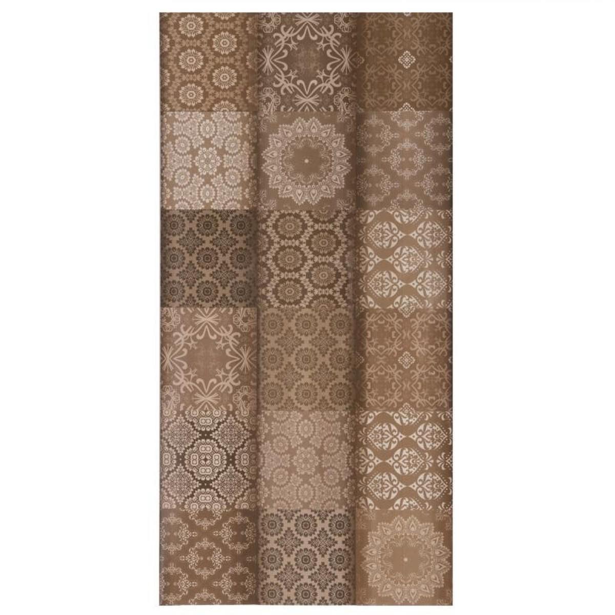 Плитка настенная Фрейя 50х24.9 см 1.37 м2 цвет коричневый