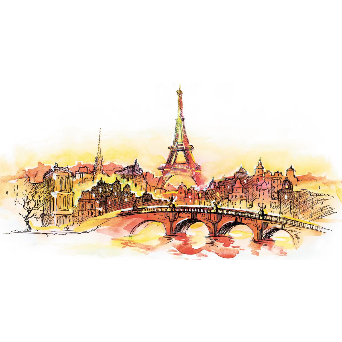Фотообои флизелиновые «Париж» 130х250 см