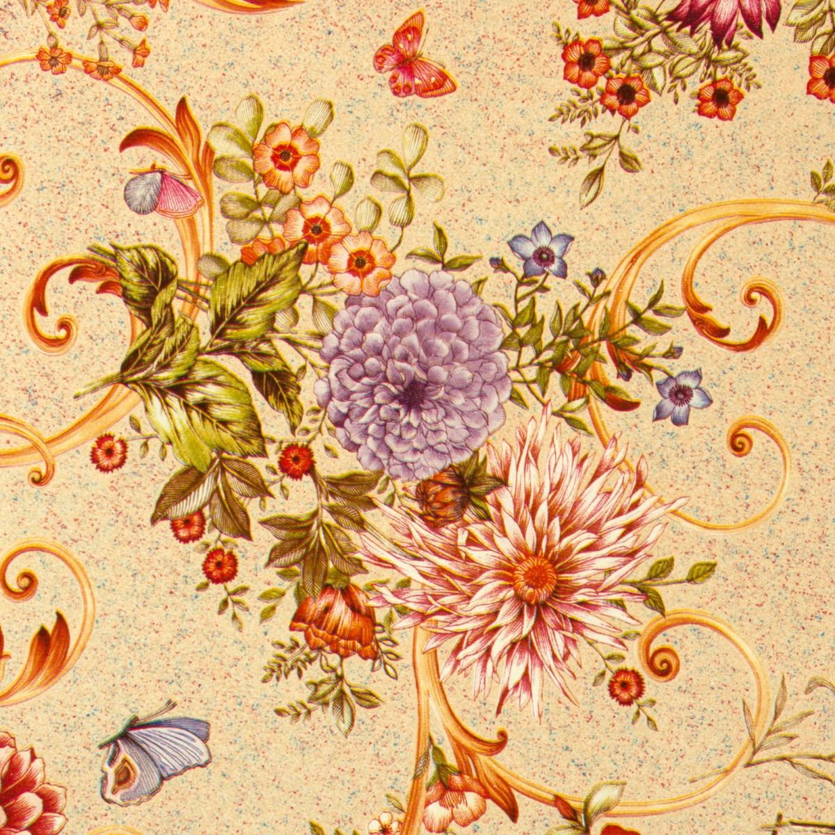 Скатерть Георгины 160х135 см цвет персиковый