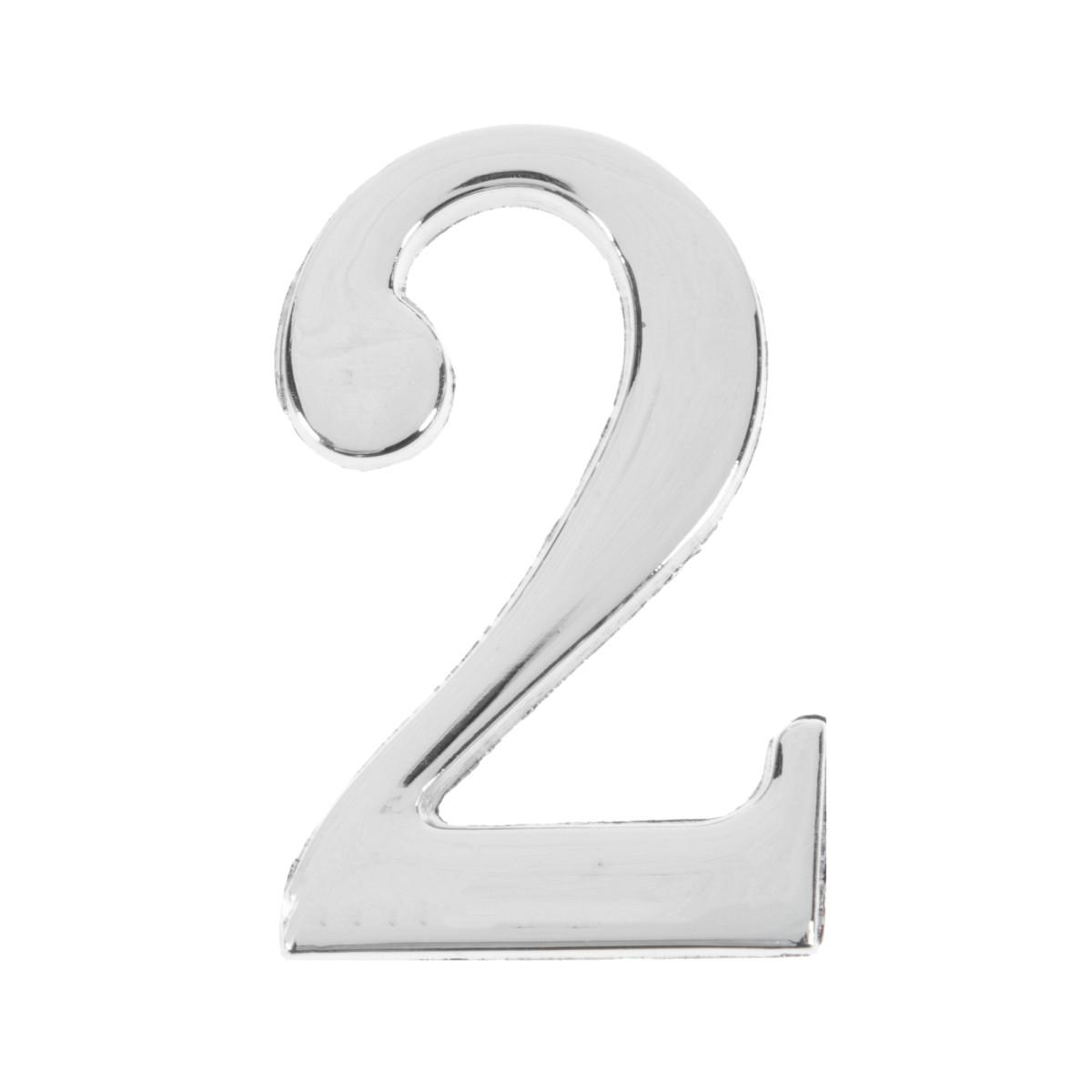 Цифра Дверная «2» Apecs Dn-01 Цвет Хром
