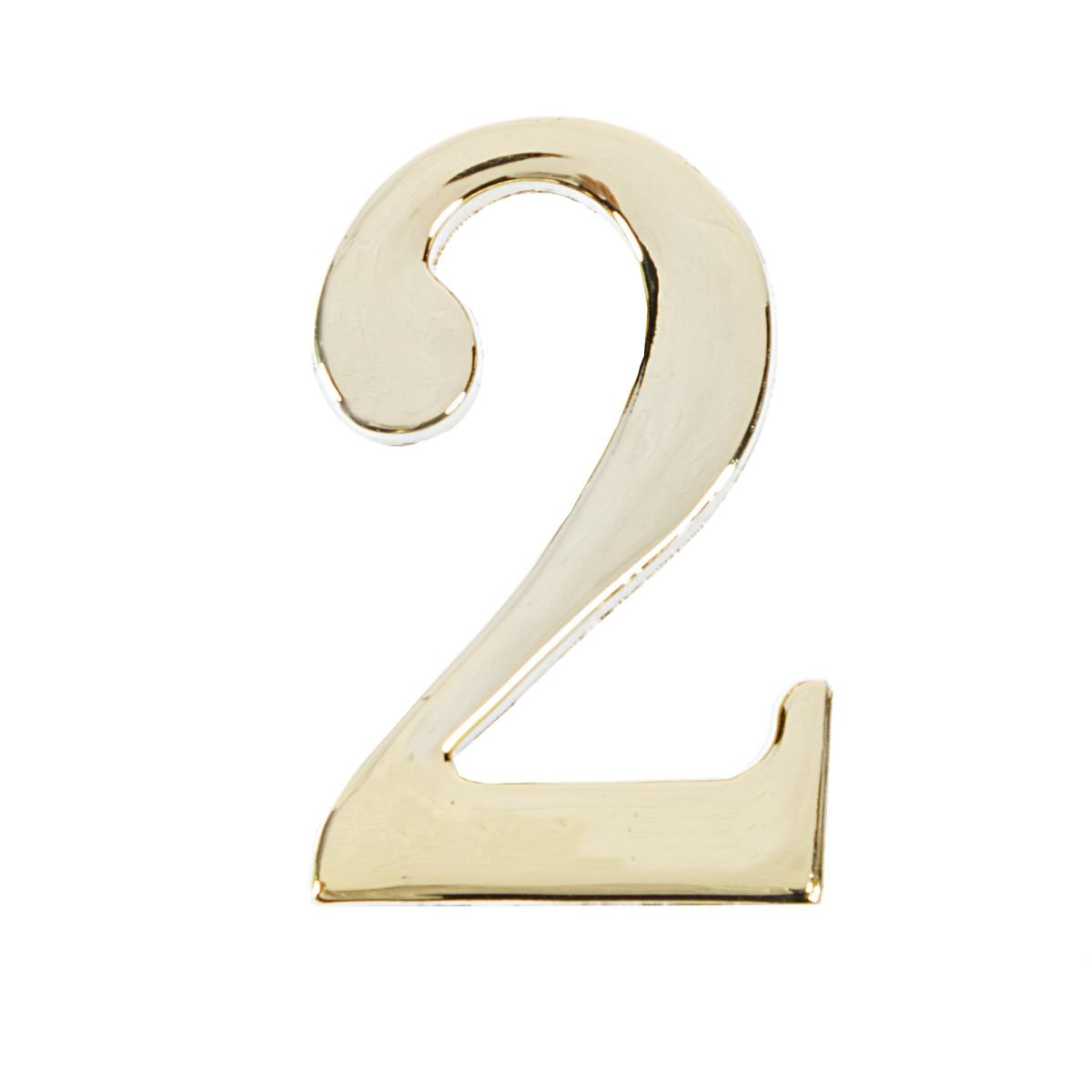Цифра Дверная «2» Apecs Dn-01 Цвет Золото