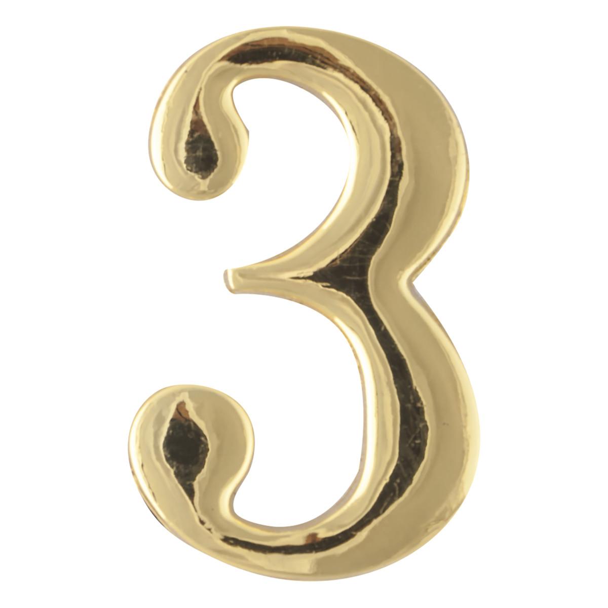 Цифра Дверная «3» Apecs Dn-01 Цвет Золото