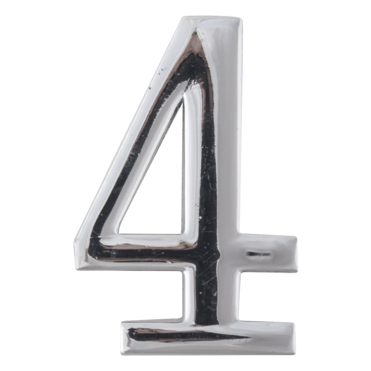 Цифра Дверная «4» Apecs Dn-01 Цвет Хром