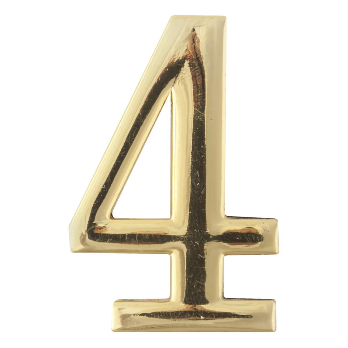 Цифра Дверная «4» Apecs Dn-01 Цвет Золото