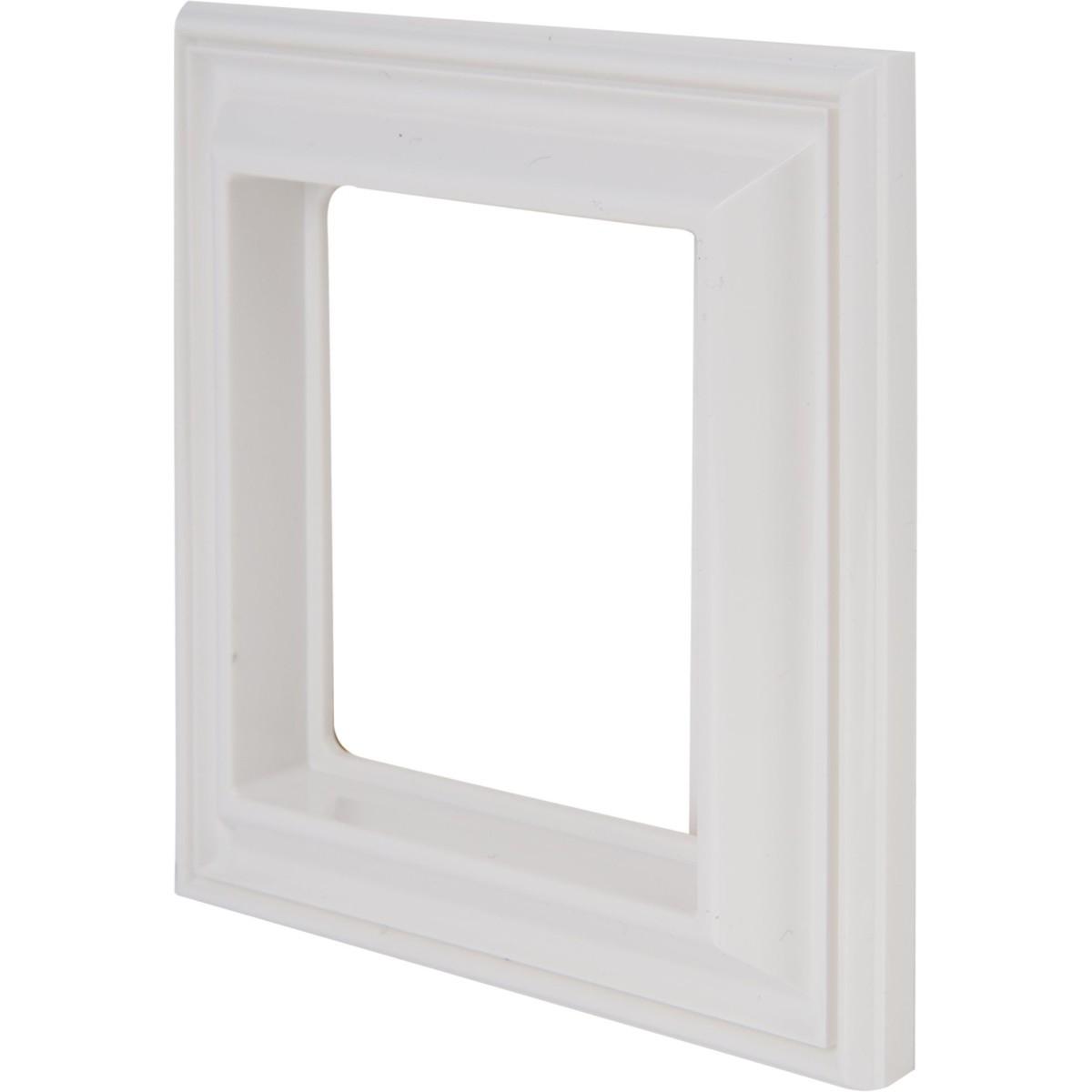 Рамка для розеток и выключателей EcoProfi Design 1 пост цвет белый