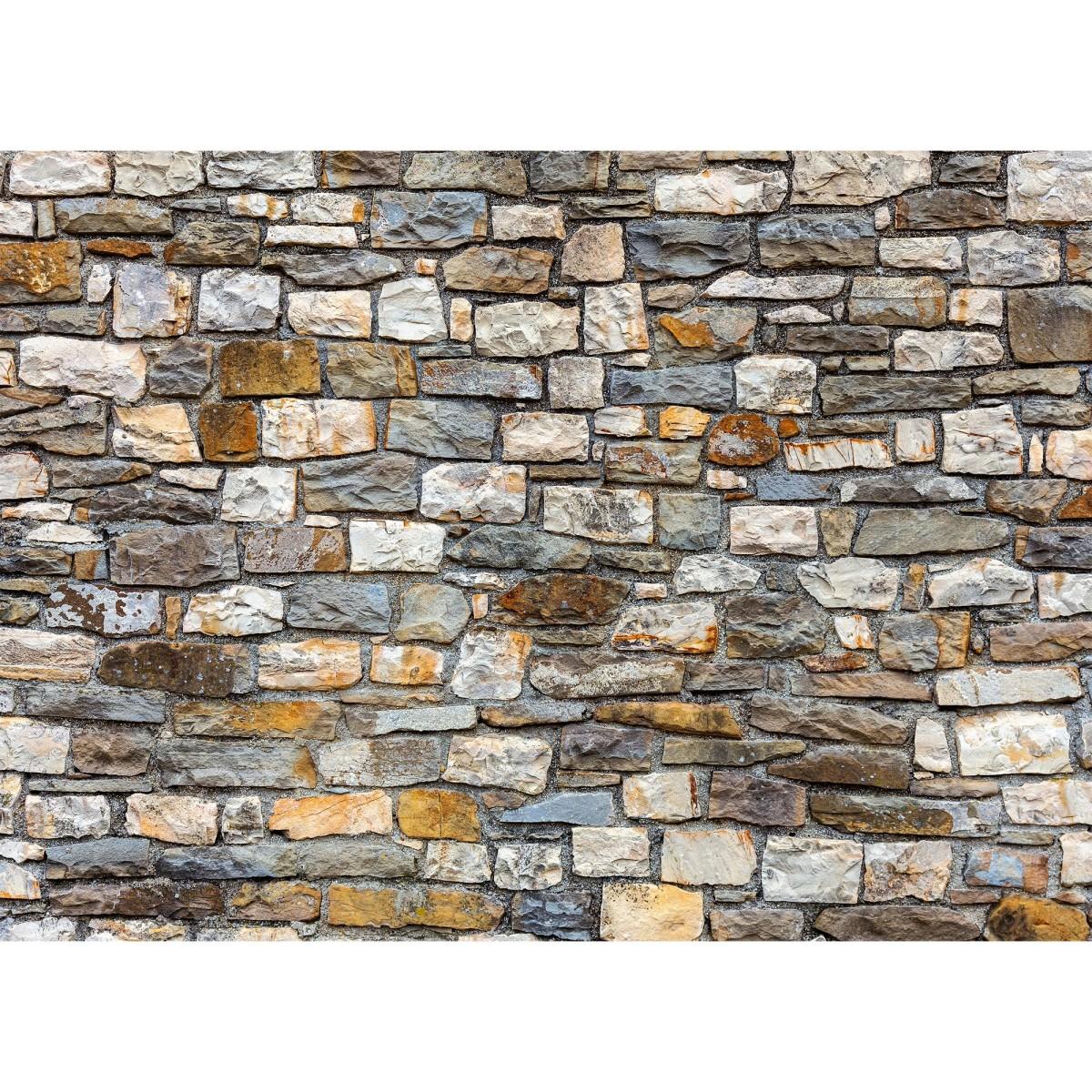 Фотообои бумажные «Каменная стена-2» 254х184 см