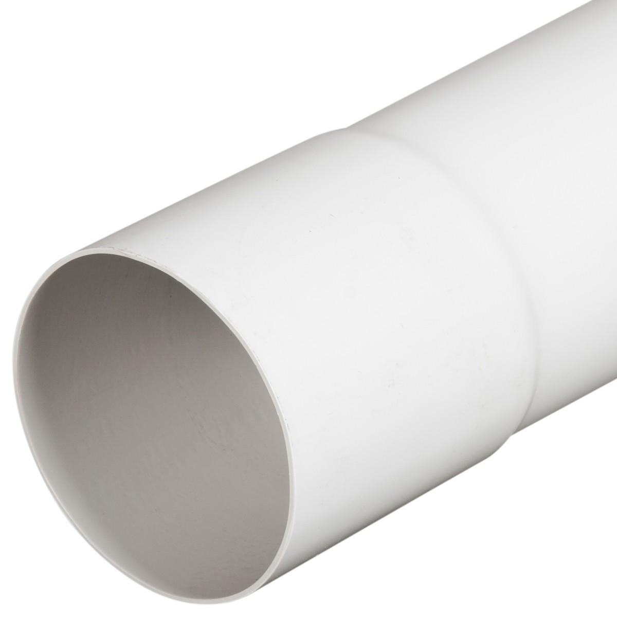 Труба водосточная с раструбом 80x4000 мм цвет белый