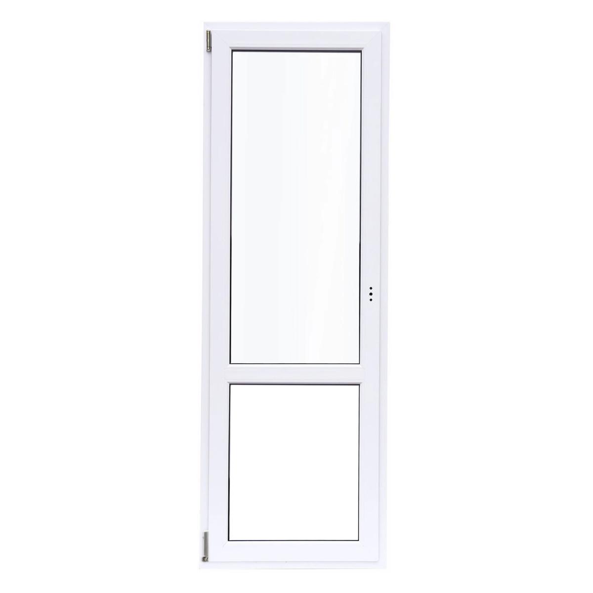 Дверь балконная ПВХ 218(215)x67 см левая двухкамерное
