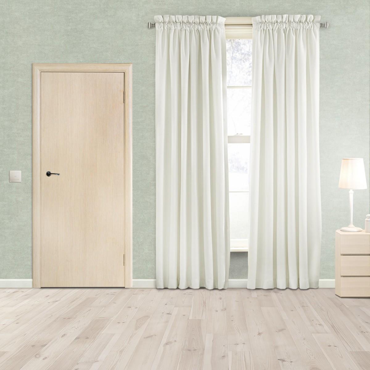 Дверь Межкомнатная Глухая Aura 50x200 Ламинация Цвет Ясень 3d