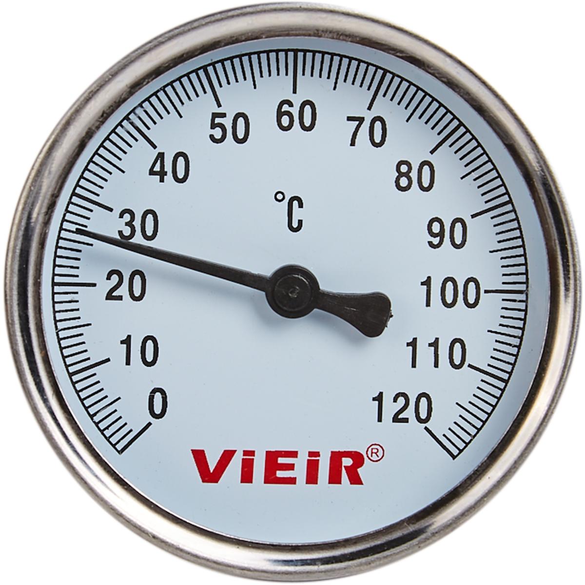 Термометр для воды с гильзой 120 градусов 1/2