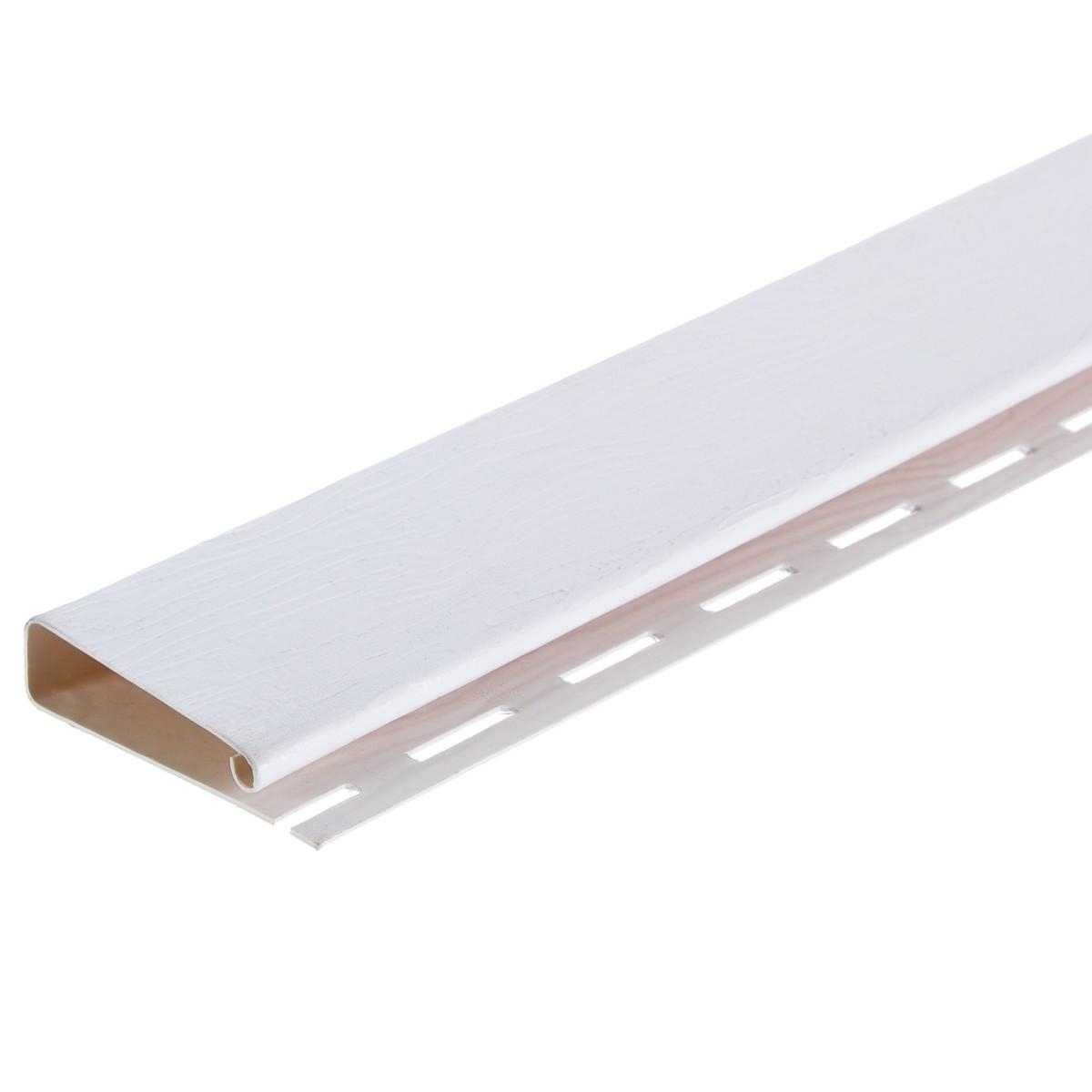 J-профиль 3660 мм широкий Country Standart цвет белый