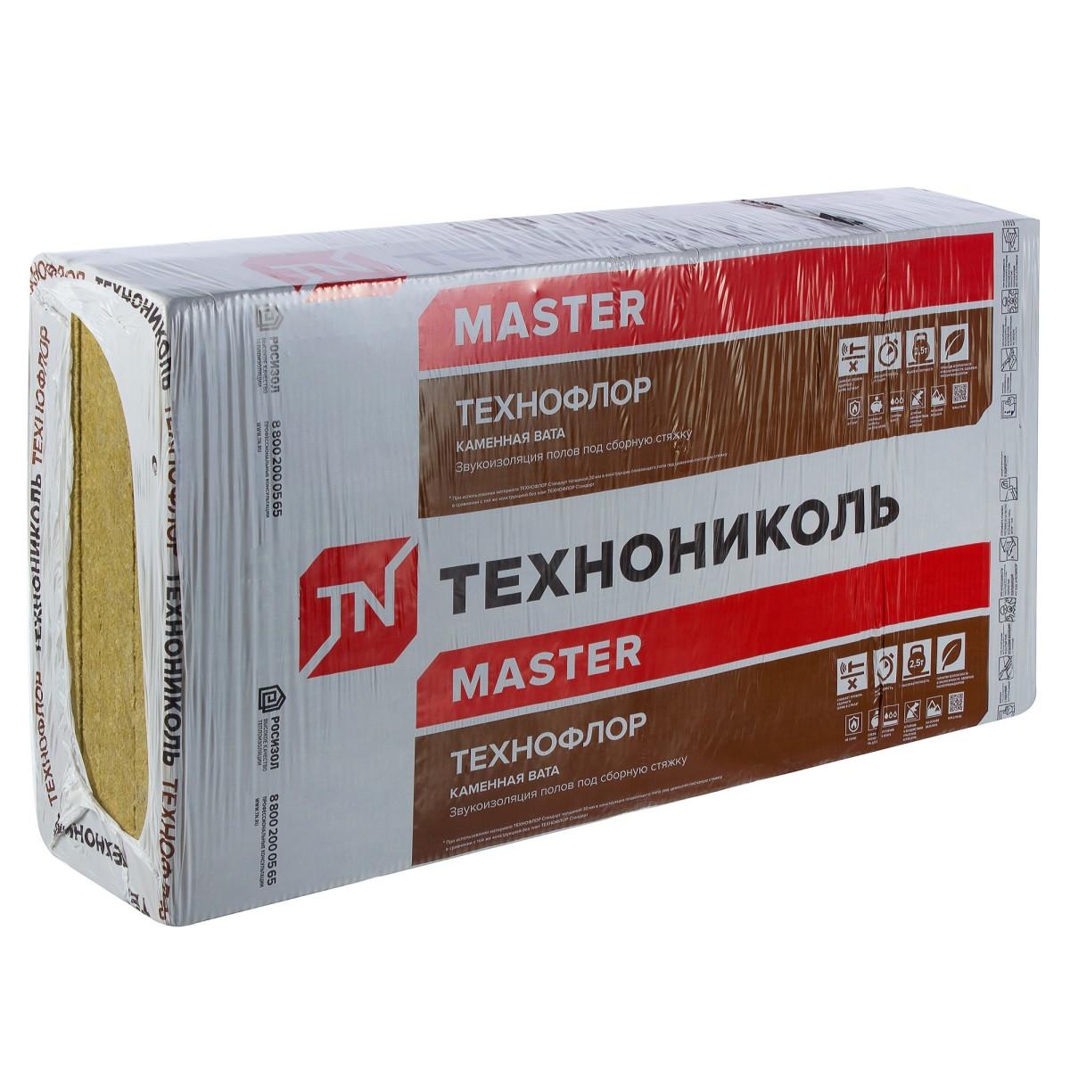 Каменная вата Технофлор стандарт 30 мм 576 м2