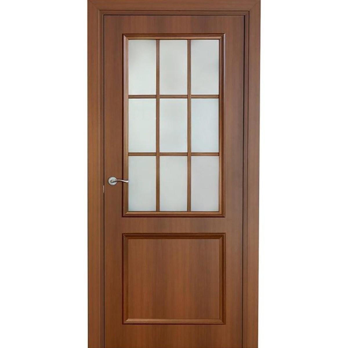 Дверь Межкомнатная Остеклённая Altro 60x200 Ламинация Цвет Орех