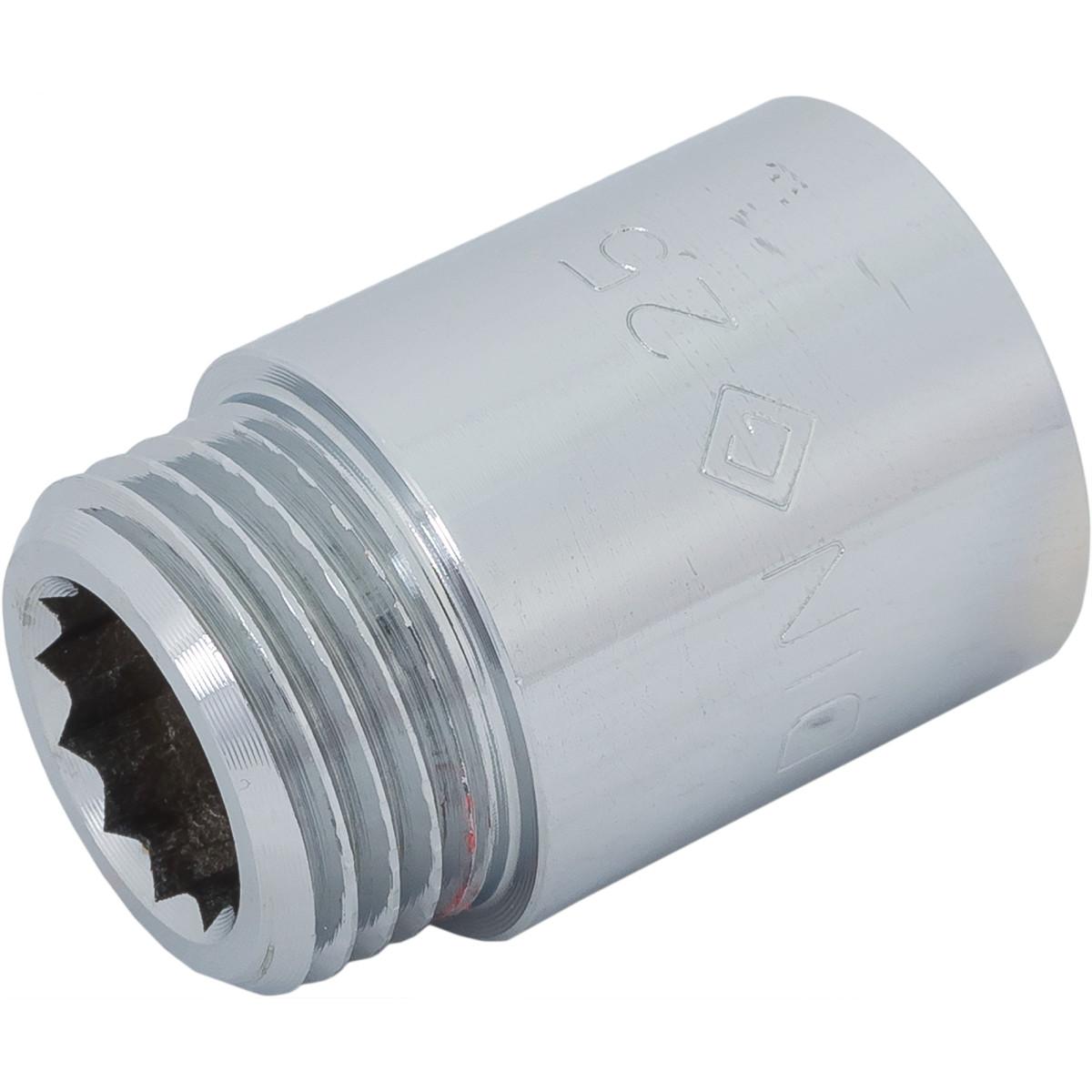 Удлинитель внутренняя резьба 1/2х25 мм цвет хром
