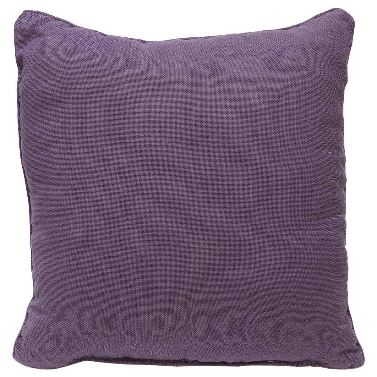 Подушка декоративная с кантом 40х40 см цвет сиреневый
