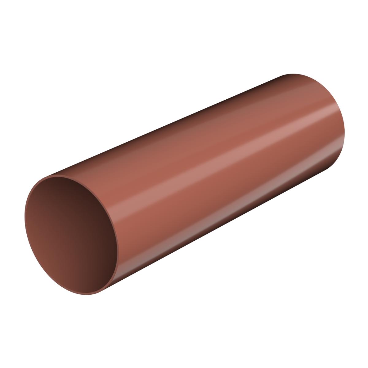 Труба водосточная 82x3000 мм цвет красный