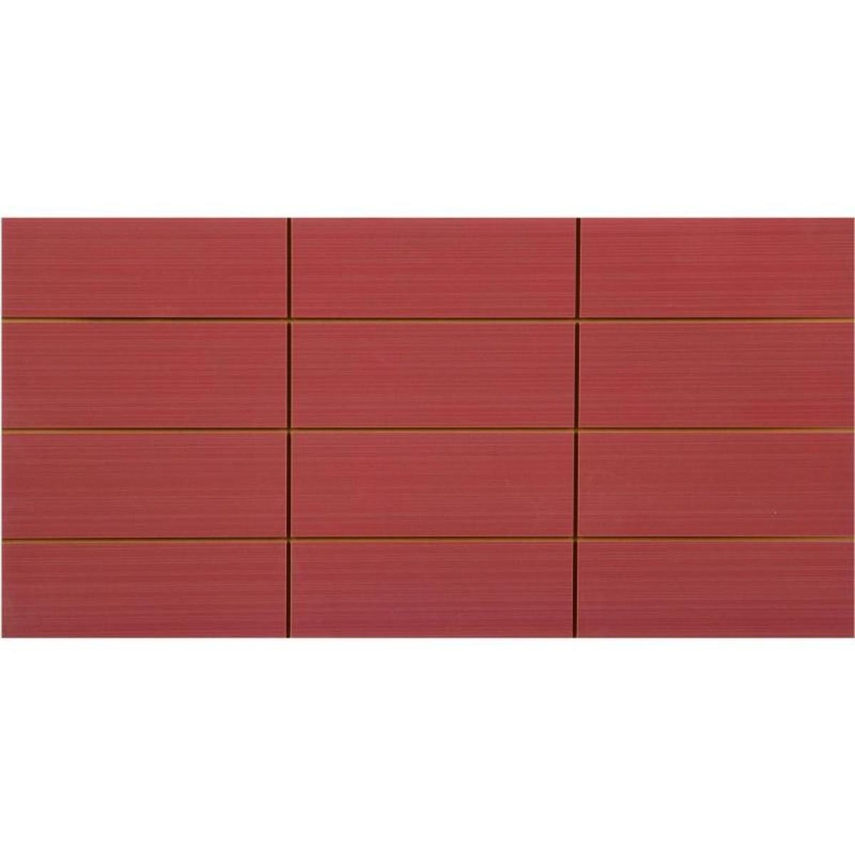 Вставка Фрэска 12 20х40 см цвет бордо