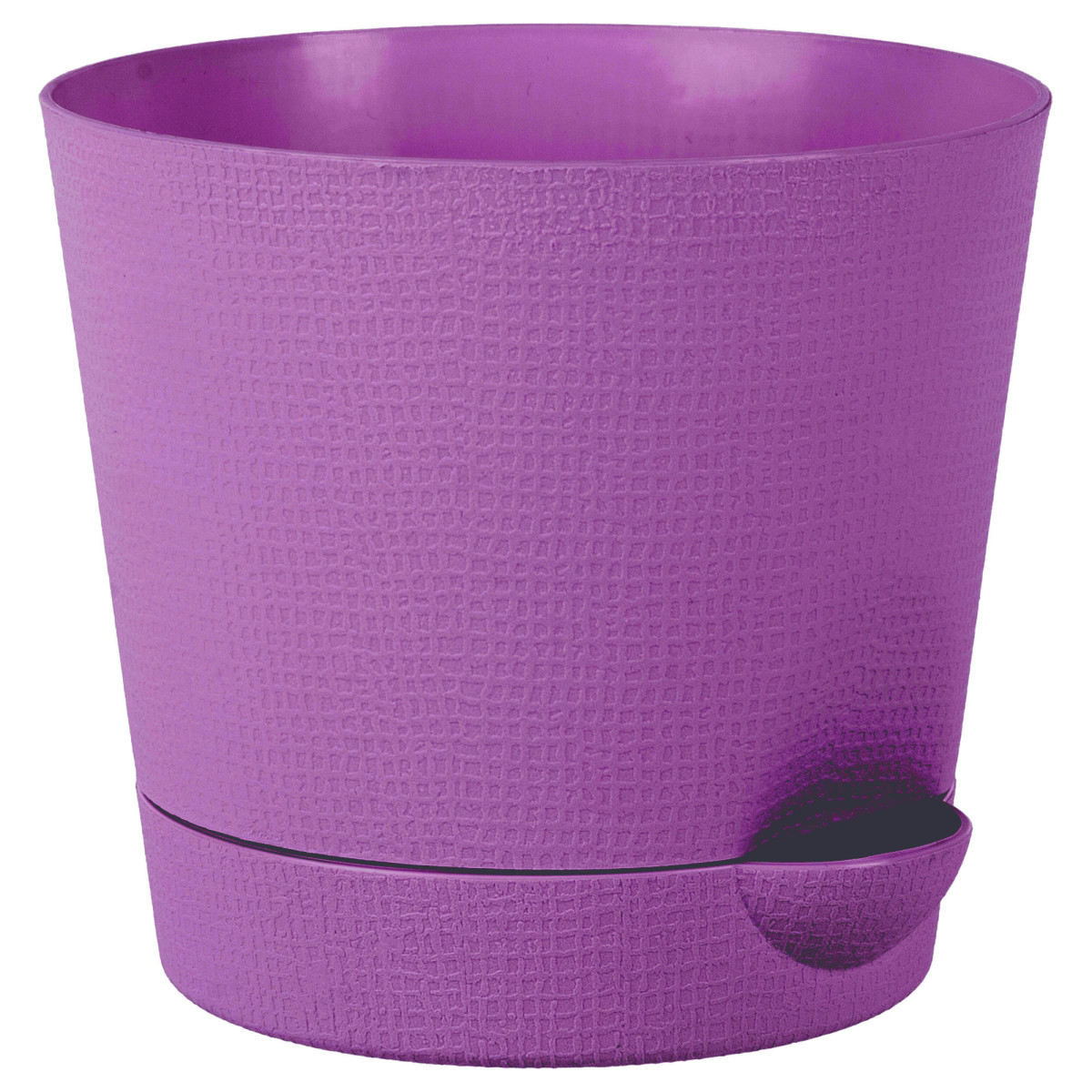 Горшок цветочный «Партер» D19 2 8л. пластик Фиолетовый Розовый