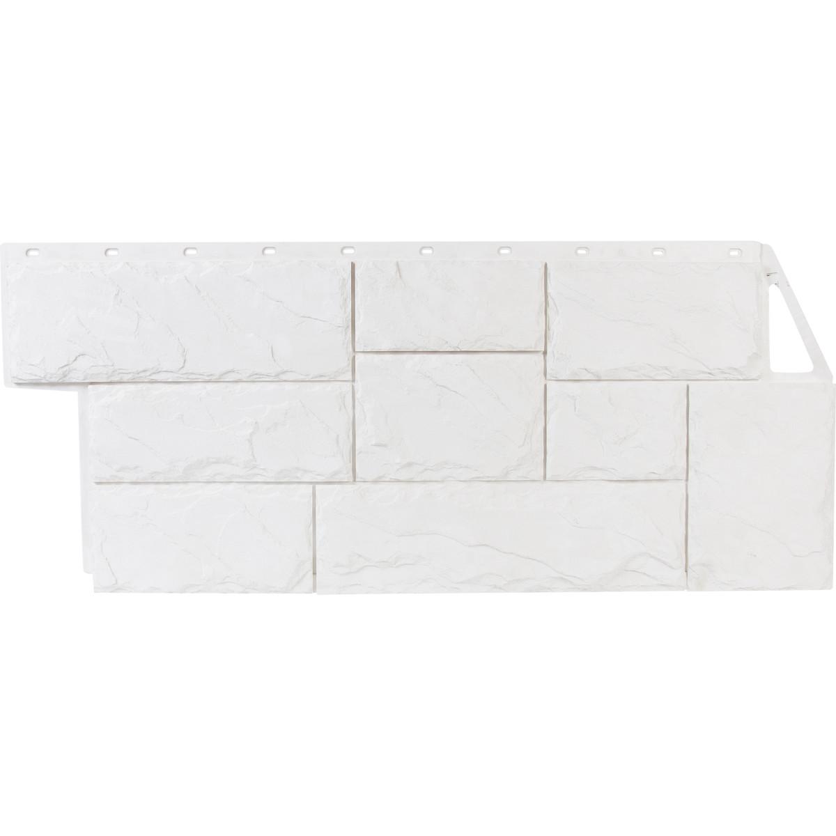 Фасадная панель Country Камень крупный цвет белый