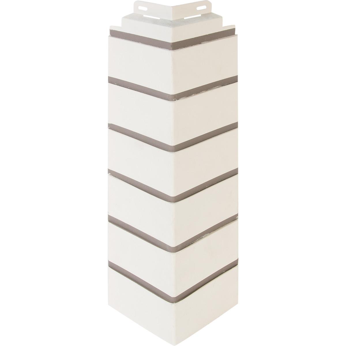 Угол наружный FineBer Кирпич облицовочный цвет белый