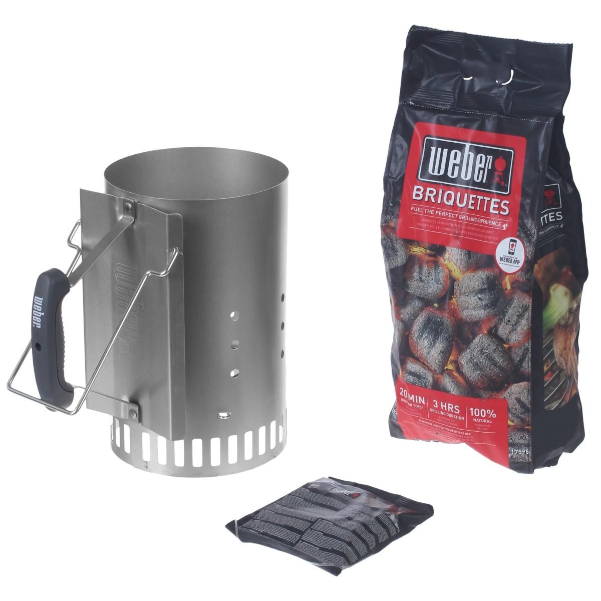 Набор для розжига Weber стартер брикеты угольные 2 кг кубики 3 шт