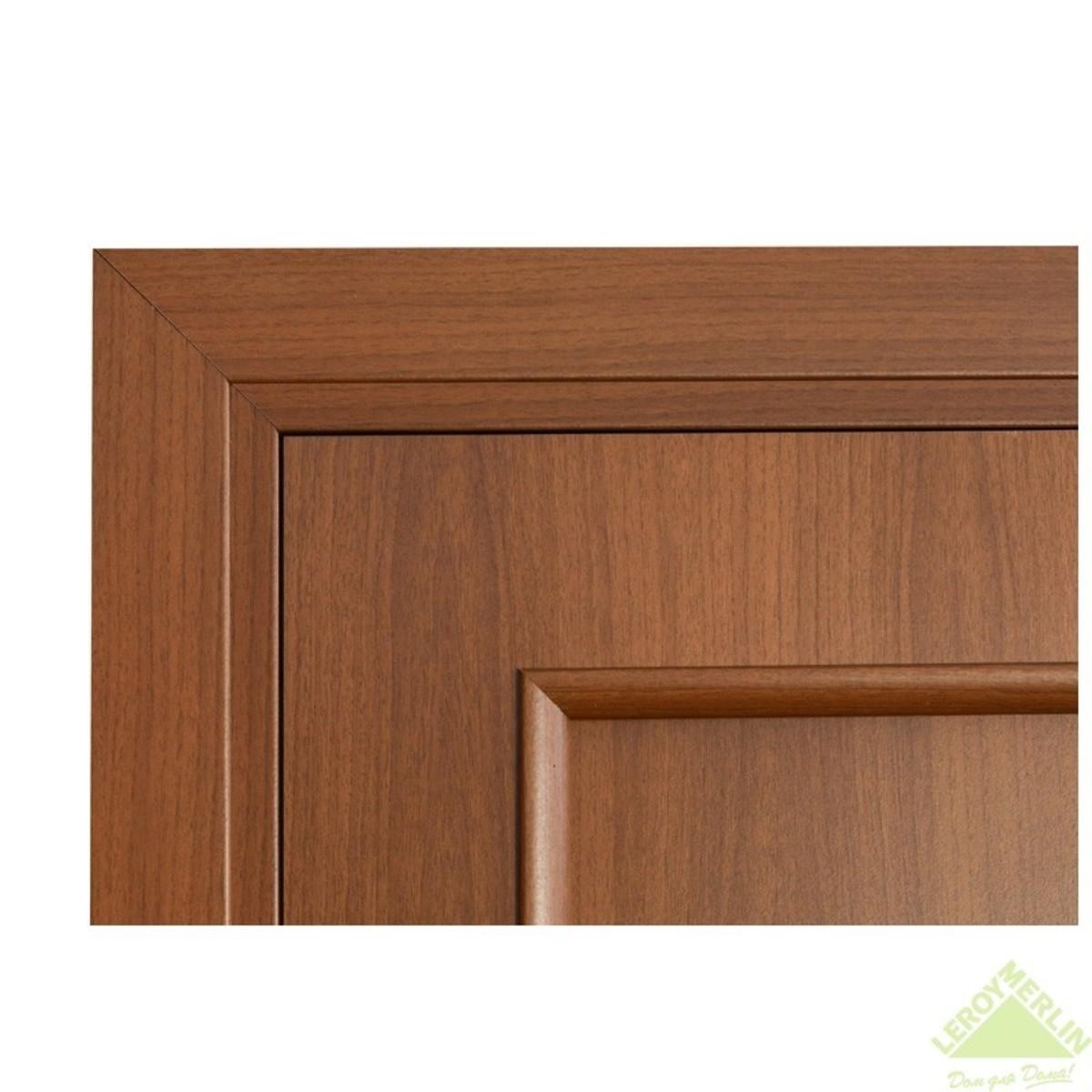 Дверь Межкомнатная Остеклённая Фортунато Классика 60x200 Ламинация Цвет Орех