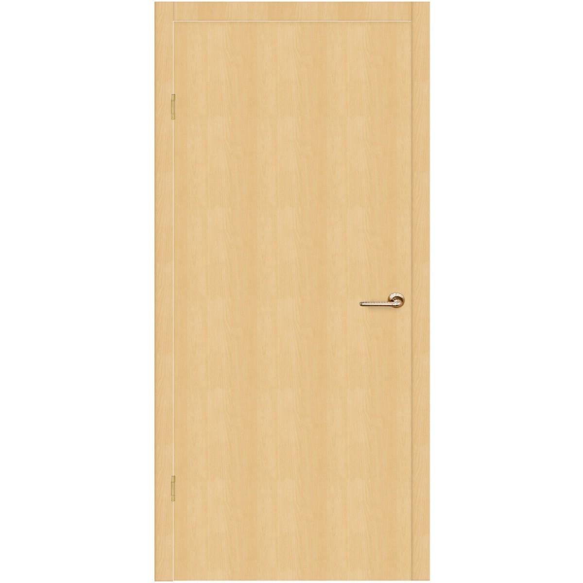 Дверь межкомнатная глухая Belleza 60x200 см ламинация цвет дуб белый