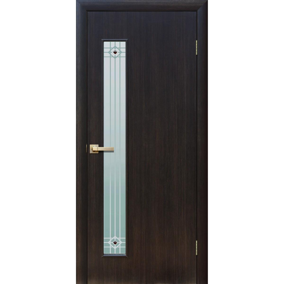 Дверь межкомнатная остеклённая Стандарт 90x200 см ламинация цвет дуб феррара