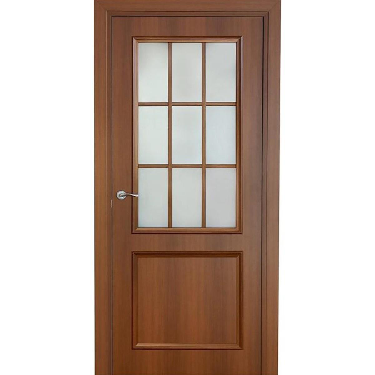 Дверь межкомнатная остеклённая Altro 90x200 см ламинация цвет орех