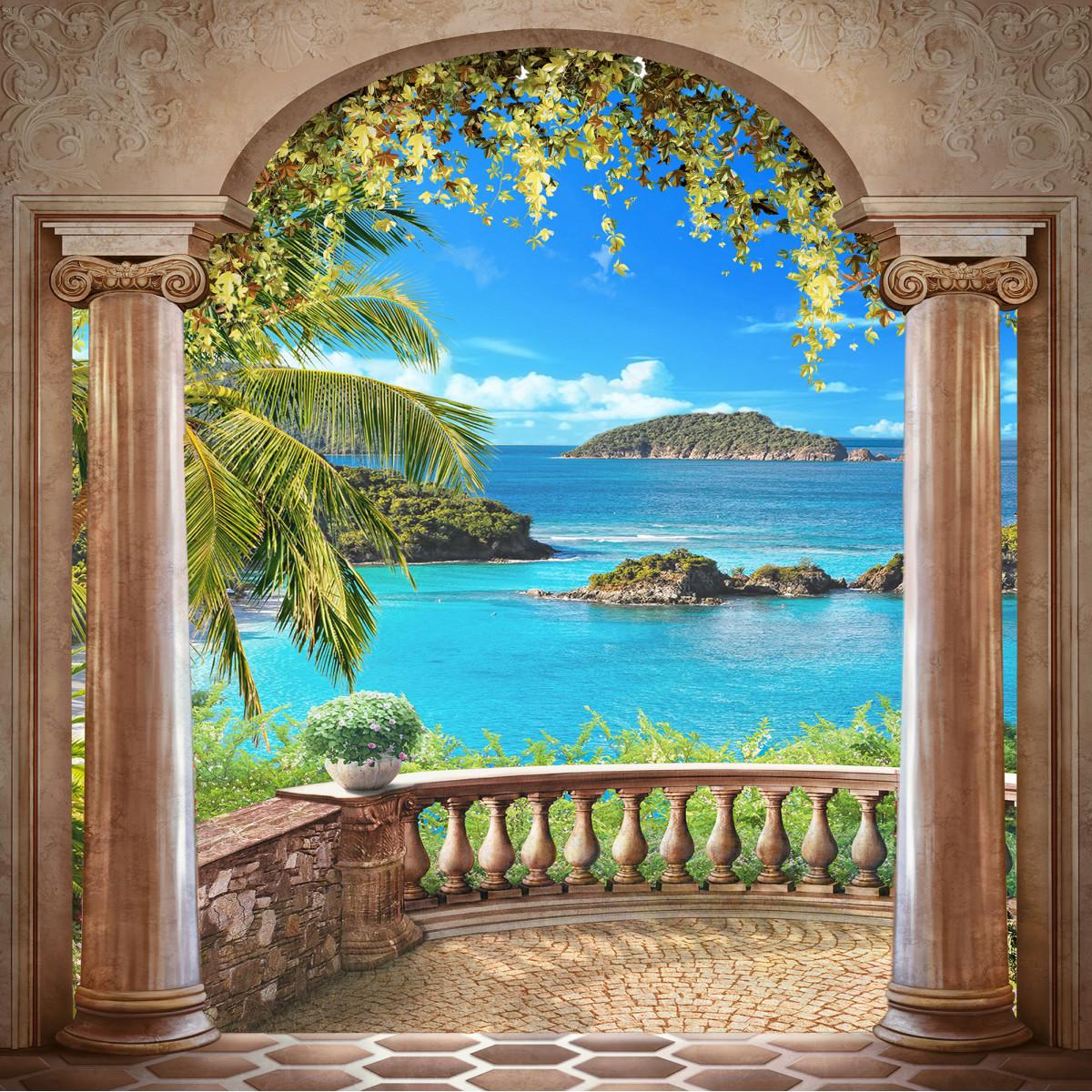 Фотообои флизелиновые «Балкон» 200х200 см