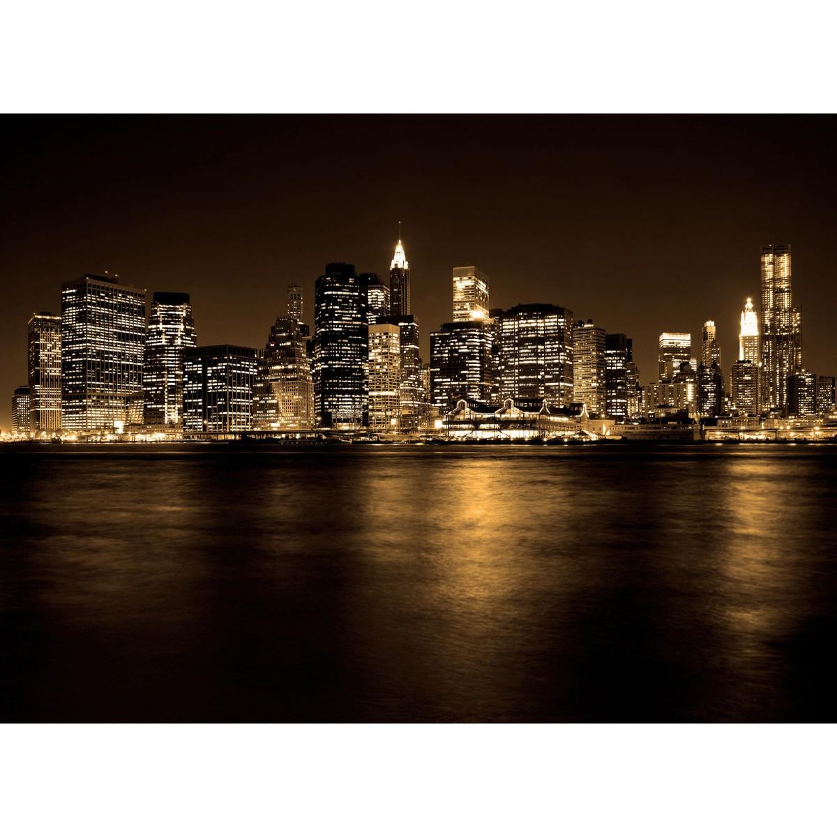 Фотообои флизелиновые «Ночной город» 370х270 см