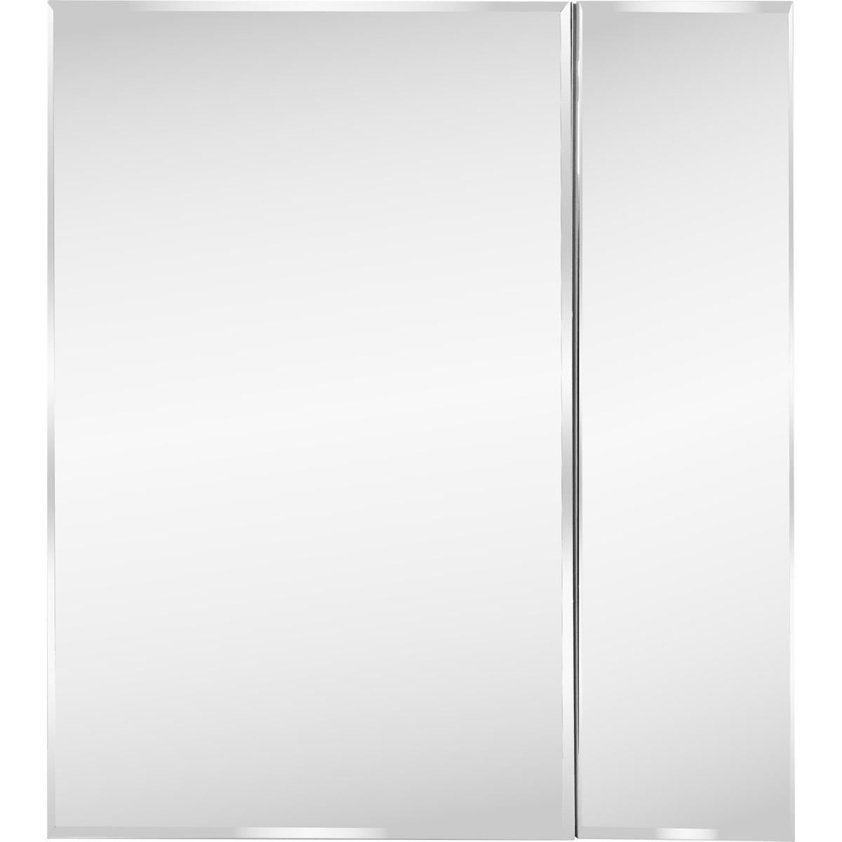 Шкаф зеркальный Форте 70 см цвет белый