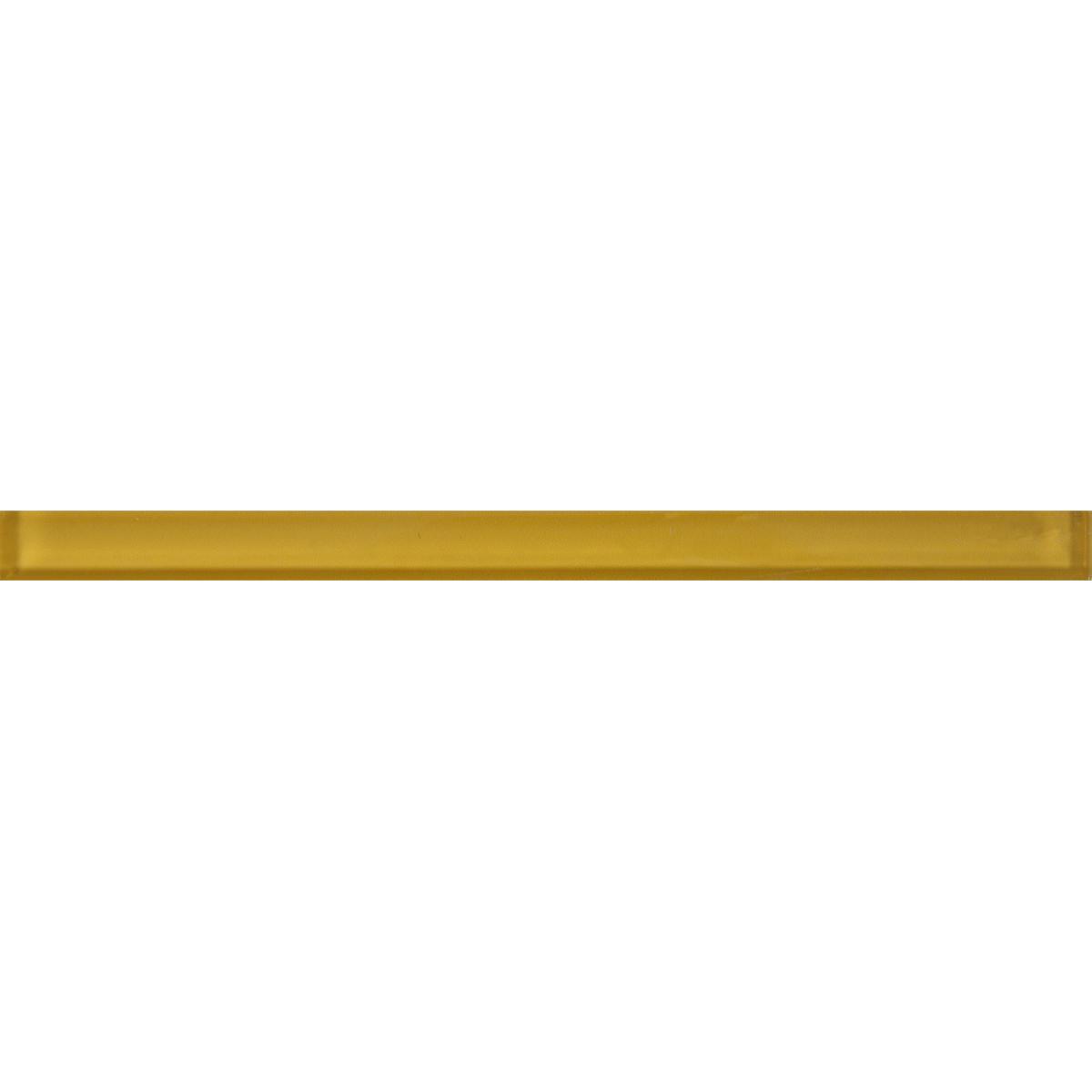 Бордюр «Gerbera Mono» 30х2 см стекло цвет жёлтый