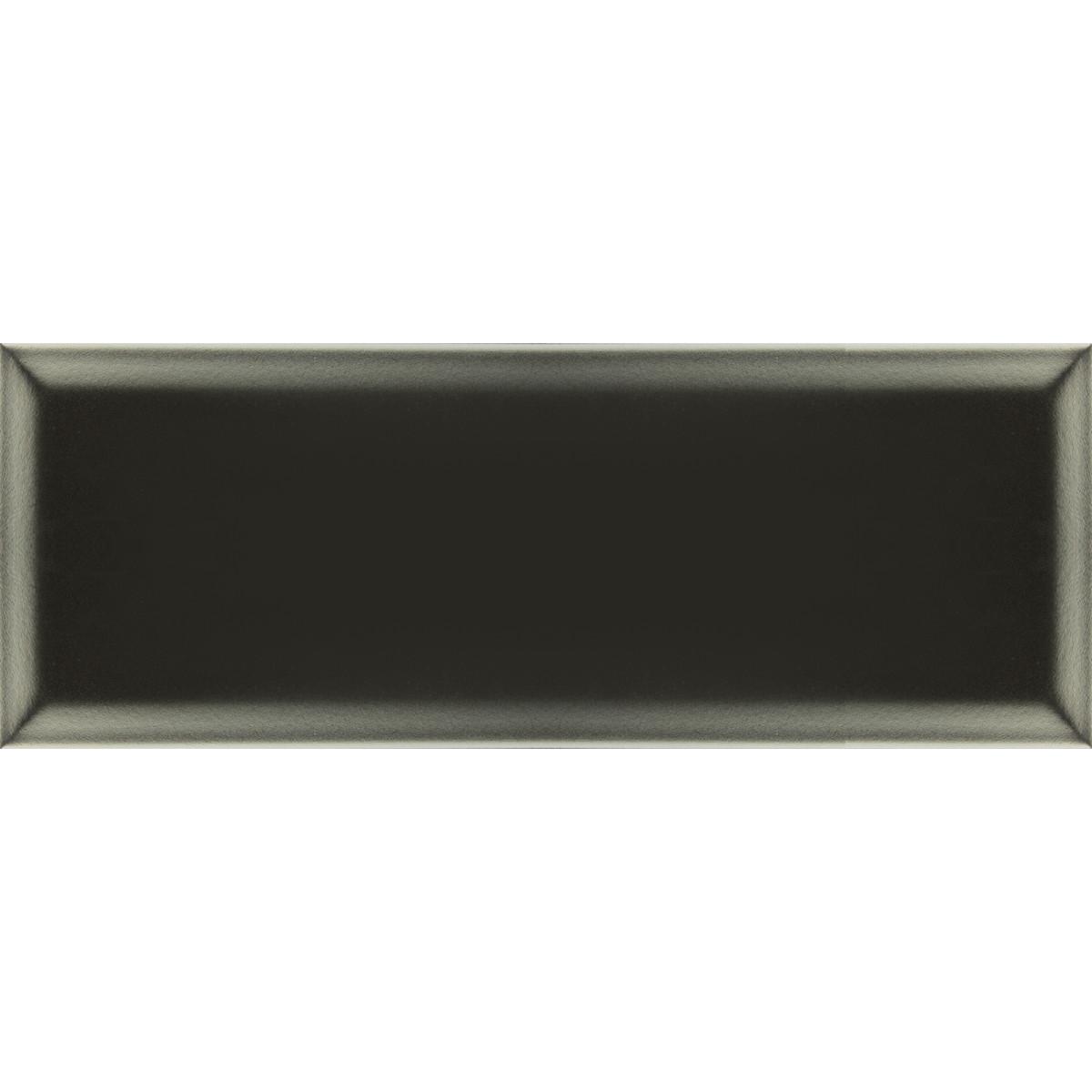 Плитка настенная Бельканто Грань 15х40 см 1.32 м2 цвет черный