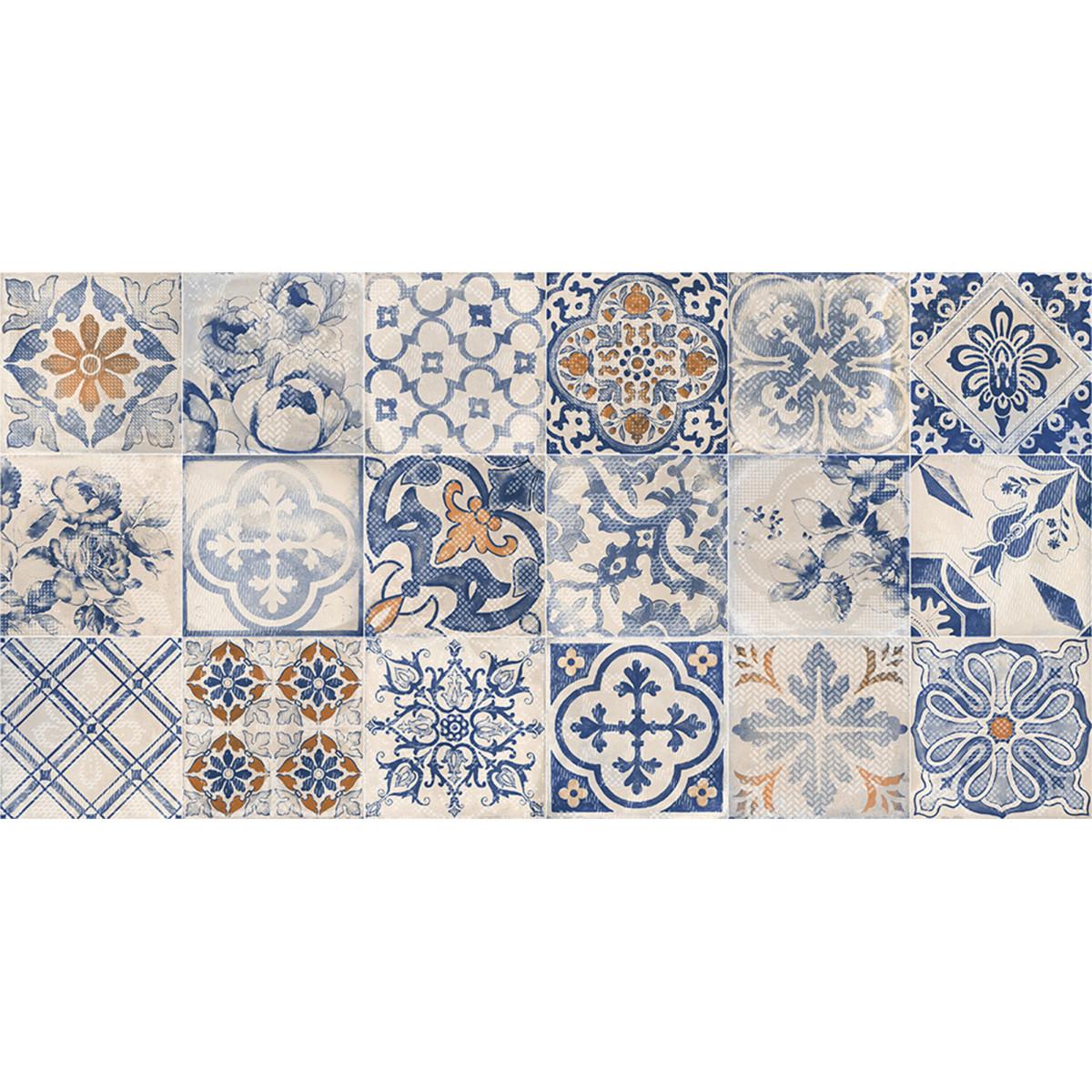 Плитка настенная Касабланка 19.8х39.8 см 1.58 м2 цвет синий