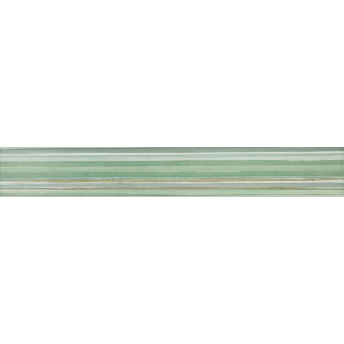 Бордюр «Аверно Полосы» 40х6 см цвет зелёный