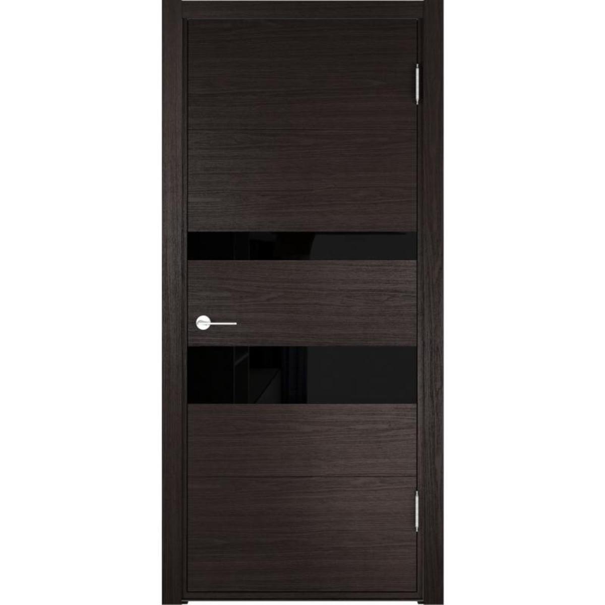 Дверь межкомнатная остеклённая Тоскана 60x200 см цвет дуб шоколадный