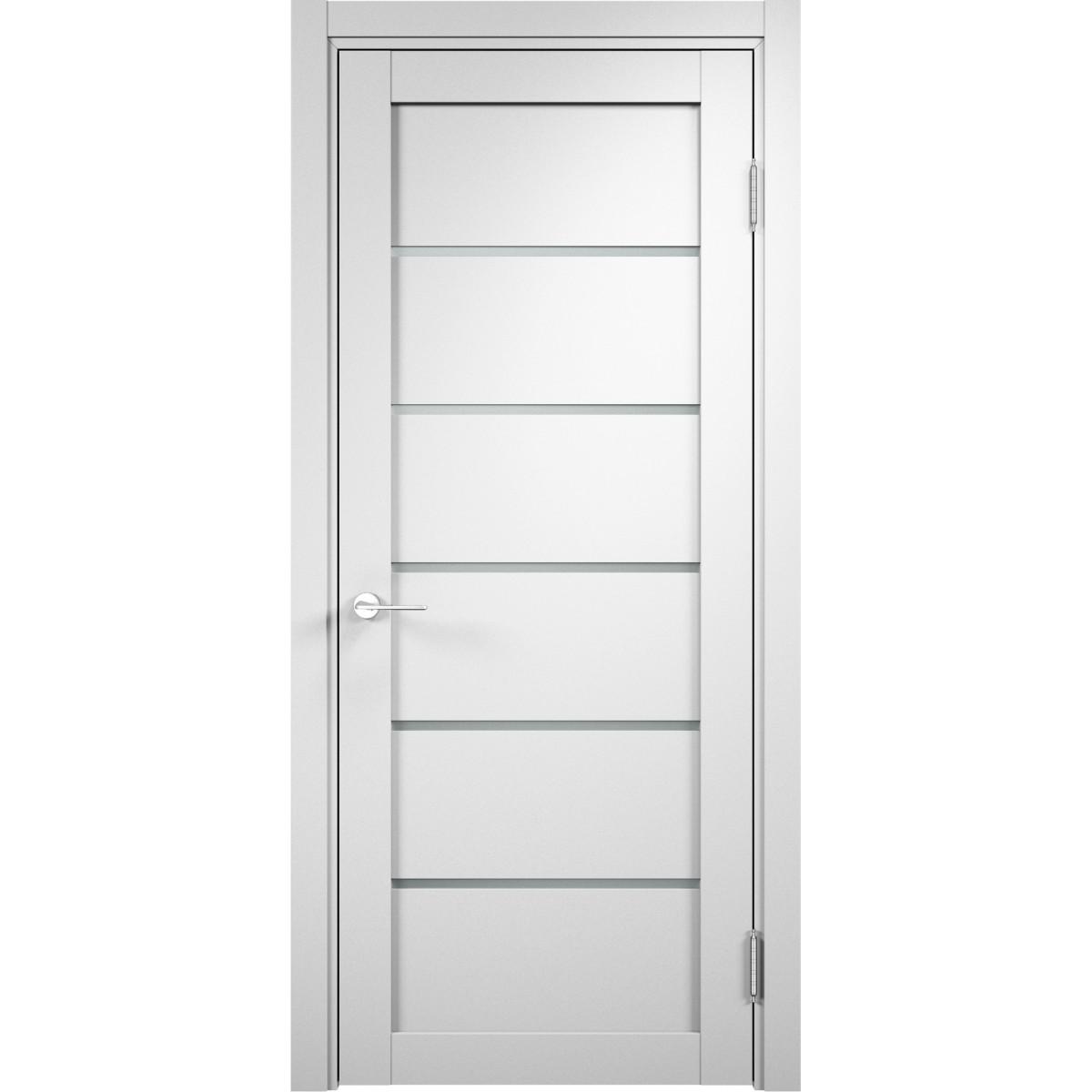 Дверь Межкомнатная Остеклённая Милан 60x200 Пвх Цвет Белый
