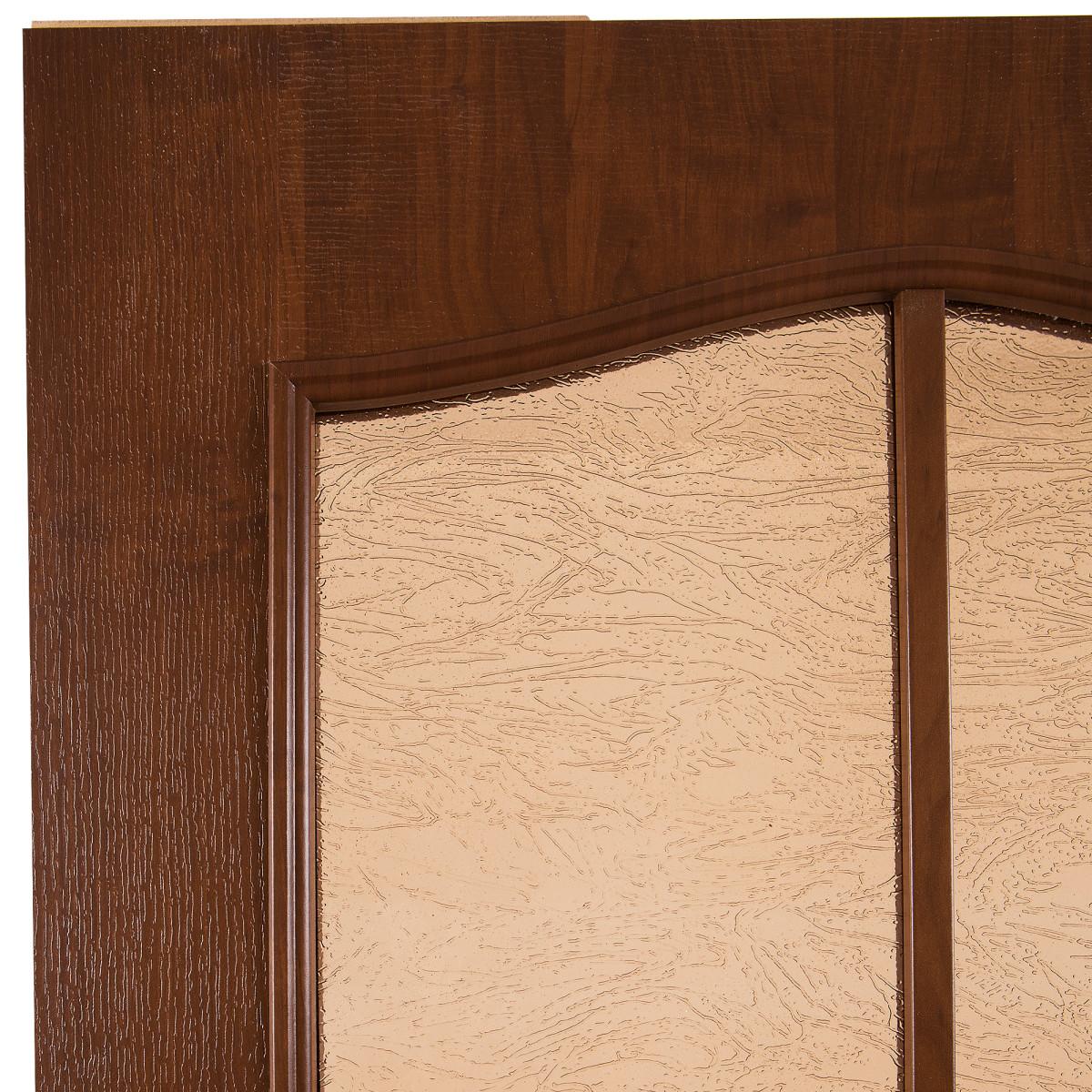 Дверь Межкомнатная Остеклённая Антик 80x200 Пвх Цвет Дуб Коньяк