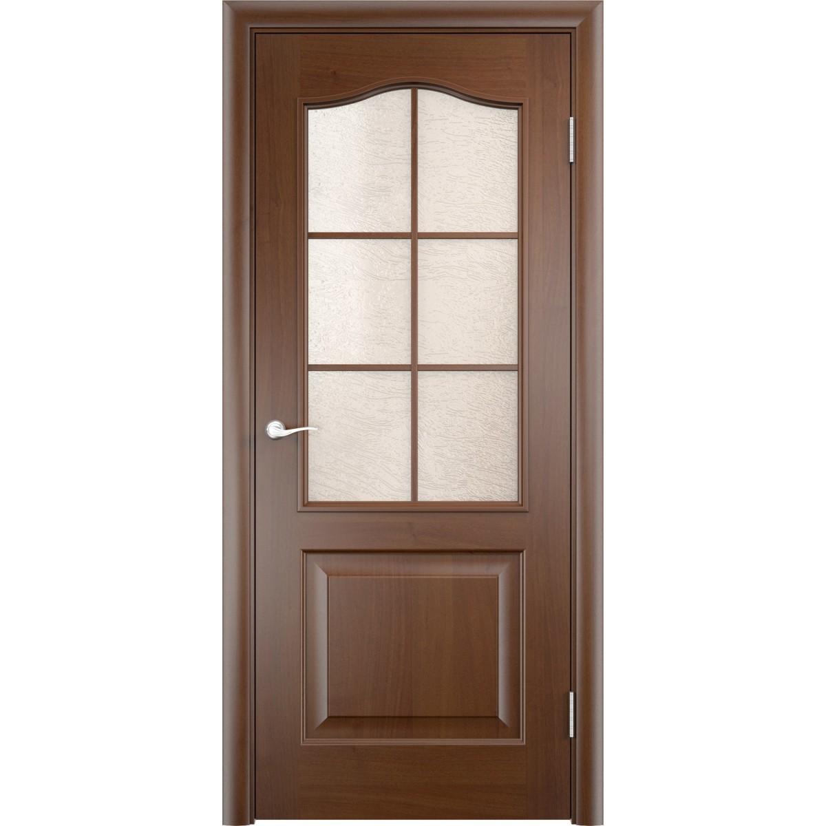 Дверь Межкомнатная Остеклённая Антик 90x200 Пвх Цвет Дуб Коньяк