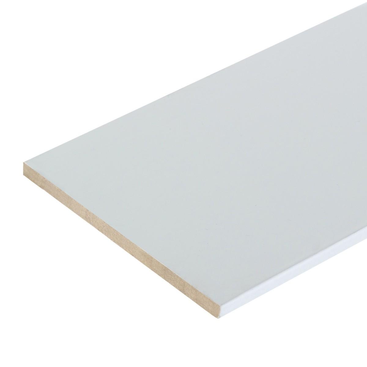 Добор 100 мм CPL цвет белый
